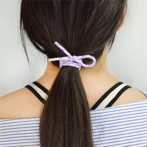 Artificial Pearl Bows Elastic Hair Band Set -
