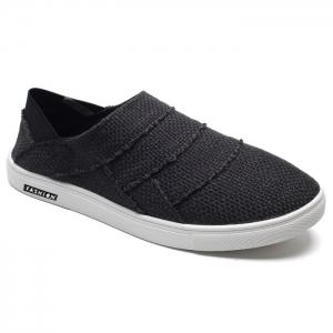 Elastic Band Breathable Casual Shoes - Black - 41