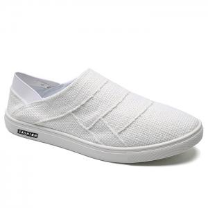 Elastic Band Breathable Casual Shoes - White - 40