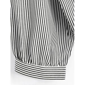 Striped Button Up Shirt - STRIPE ONE SIZE