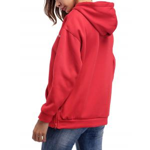 Letter Embroidery Drawstring Graphic Hoodie -