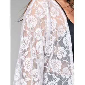 Plus Size Kimono Lace Sheer Cover-up -