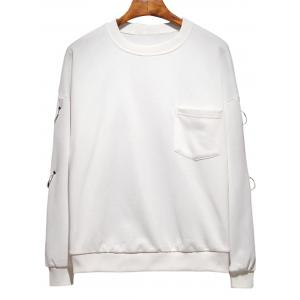 Raglan Sleeve Metallic Loop Embellished Plus Size Sweatshirt