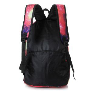 Galaxy Print Backpack with Padded Strap - PINK