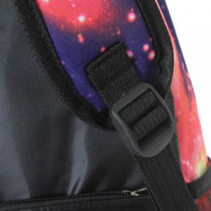 Galaxy Print Backpack with Padded Strap - GRAY