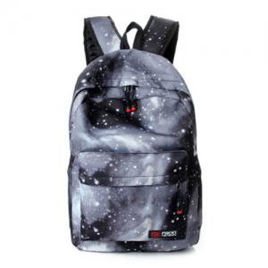 Galaxy Print Backpack with Padded Strap