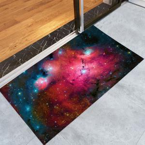 Star Night Printed Crystal Velvet Fabric Bath Rug