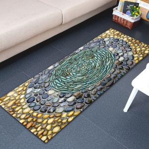 Pebbles Printed Water Absorption Flannel Rug - COLORMIX W16 INCH * L47 INCH
