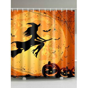 Halloween Witch Polyester Fabric Shower Curtain
