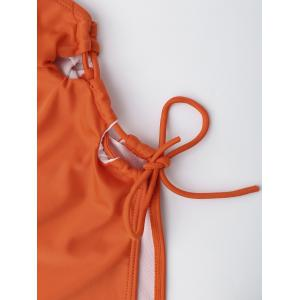 Maillot de bain à lacets Backless à haute coupe - Tangerine XL