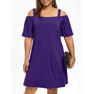 Cold Shoulder Half Sleeve Plus Size Dress