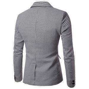 Notch Lapel Casual Houndstooth Blazer -