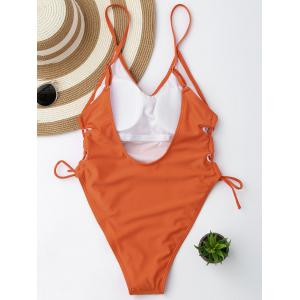 High Cut Backless Lace Up Swimsuit -