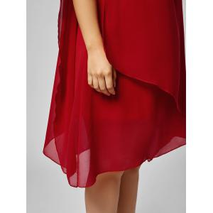 Asymmetric Chiffon Plus Size Cape Swing Shift Dress -
