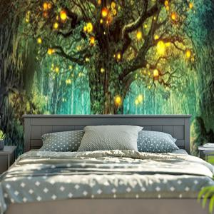 Life Tree Pattern Wall Hanging Tapestry -