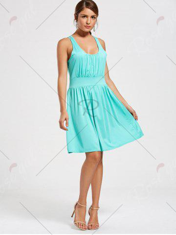 New Lace Racerback Ruched Sleeveless Casual Dress - S SEASIDE Mobile