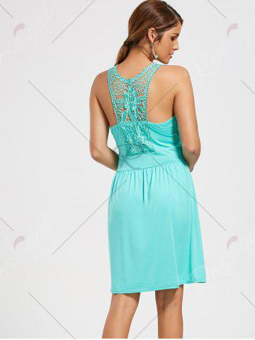 Outfits Lace Racerback Ruched Sleeveless Casual Dress - S SEASIDE Mobile
