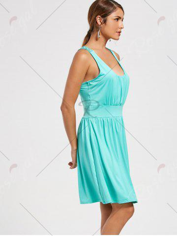 Best Lace Racerback Ruched Sleeveless Casual Dress - S SEASIDE Mobile