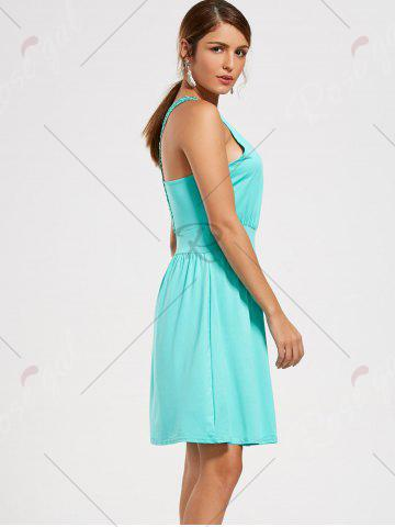 Discount Lace Racerback Ruched Sleeveless Casual Dress - S SEASIDE Mobile