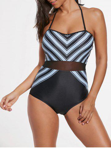 Shops One Piece Striped Padded Swimsuit