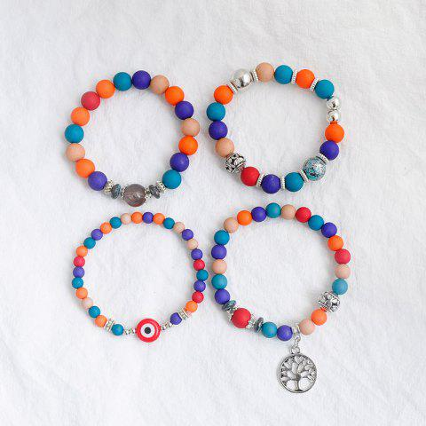 Discount Tree of Life Beaded Charm Bracelet Set - COLORMIX  Mobile
