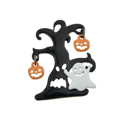 Discount Halloween Tree Devil Pumpkin Ghost Brooch COLORMIX