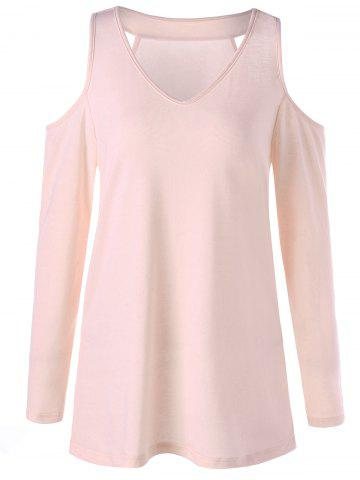Affordable Cold Shoulder Tunic Tee