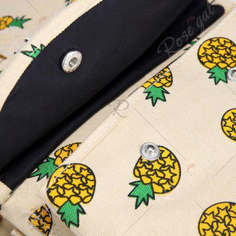 Hot Canvas Fruit Printed Backpack - PALOMINO  Mobile