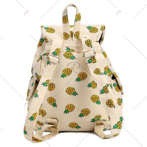 Chic Canvas Fruit Printed Backpack - PALOMINO  Mobile