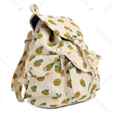Outfit Canvas Fruit Printed Backpack - PALOMINO  Mobile