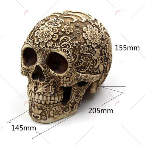 Discount Halloween Spoof Props Flower Skull Resin Ornament - EARTHY  Mobile