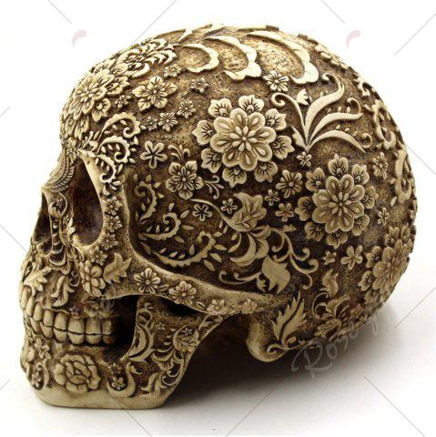 Unique Halloween Spoof Props Flower Skull Resin Ornament - EARTHY  Mobile