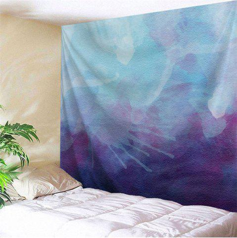 Watercolor Printed Wall Decoration Throw Tapestry - Blue Violet - W59 Inch * L79 Inch