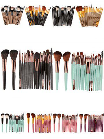 Outfits 18Pcs Face Eye Multipurpose Makeup Brushes Kit - BLACK AND GREEN  Mobile