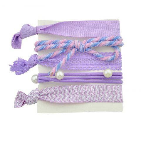 Shop Artificial Pearl Bows Elastic Hair Band Set