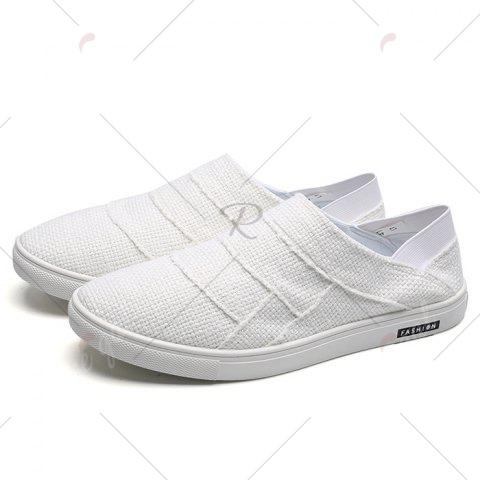 New Elastic Band Breathable Casual Shoes - 43 WHITE Mobile