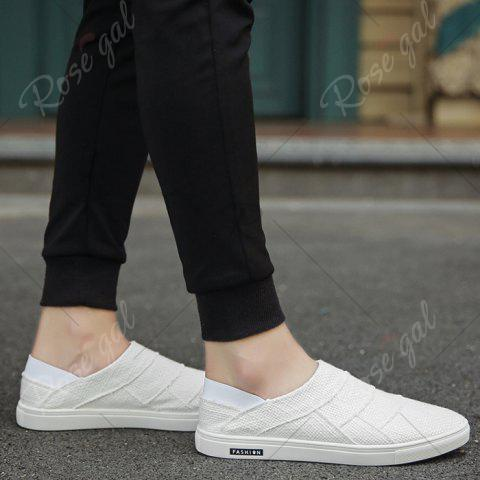 Best Elastic Band Breathable Casual Shoes - 43 WHITE Mobile