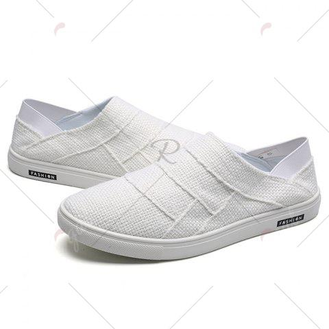 Outfits Elastic Band Breathable Casual Shoes - 43 WHITE Mobile