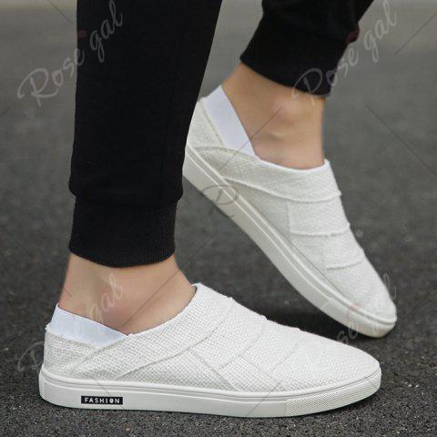 Shop Elastic Band Breathable Casual Shoes - 43 WHITE Mobile