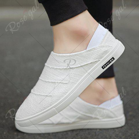 Hot Elastic Band Breathable Casual Shoes - 43 WHITE Mobile