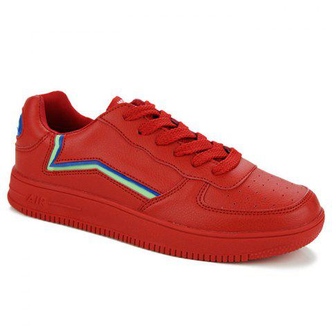 Buy Breathable Colour Block Faux Leather Casual Shoes