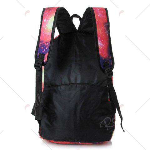 Online Galaxy Print Backpack with Padded Strap - PINK  Mobile