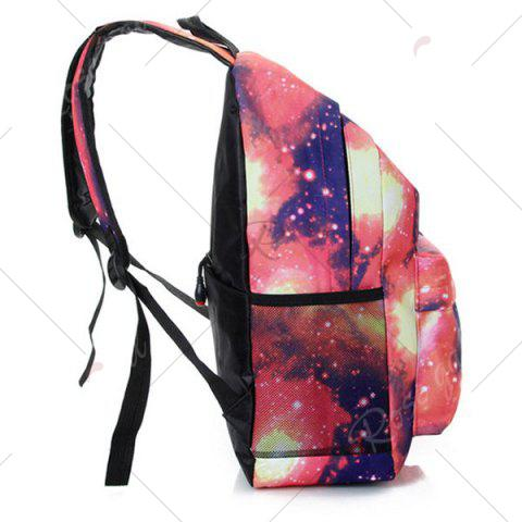 Outfit Galaxy Print Backpack with Padded Strap - PINK  Mobile