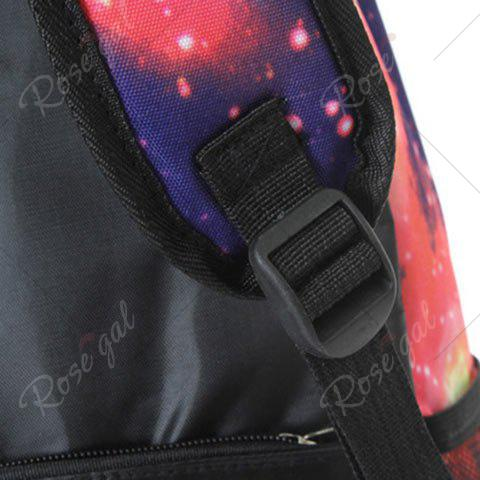 Unique Galaxy Print Backpack with Padded Strap - PINK  Mobile