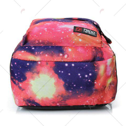 Latest Galaxy Print Backpack with Padded Strap - PINK  Mobile