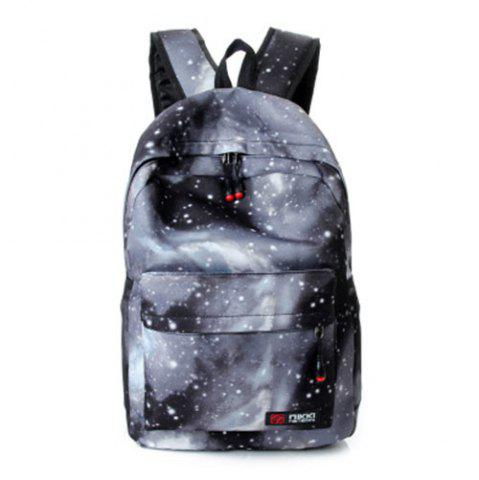 Affordable Galaxy Print Backpack with Padded Strap GRAY