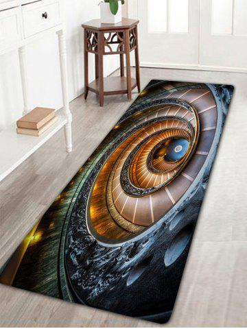 Unique Spiral Printed Bathroom Antislip Flannel Rug - W16 INCH * L47 INCH COLORMIX Mobile