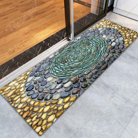 Store Pebbles Printed Water Absorption Flannel Rug - W16 INCH * L47 INCH COLORMIX Mobile
