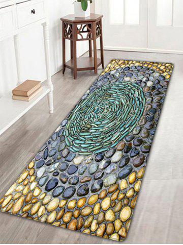 New Pebbles Printed Water Absorption Flannel Rug - W16 INCH * L47 INCH COLORMIX Mobile