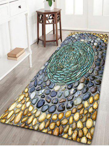 Store Pebbles Printed Water Absorption Flannel Rug - W24 INCH * L71 INCH COLORMIX Mobile